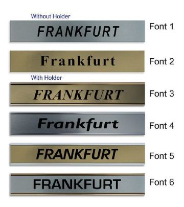 Frankfurt Clock Name Plate |World Time Zone City Wall clocks Sign custom Plaque